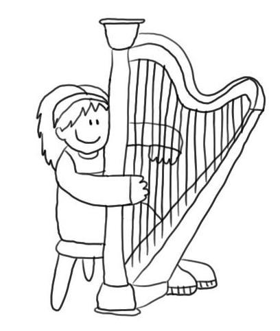Dibujo Para Colorear Niño Tocando El Piano Imagui
